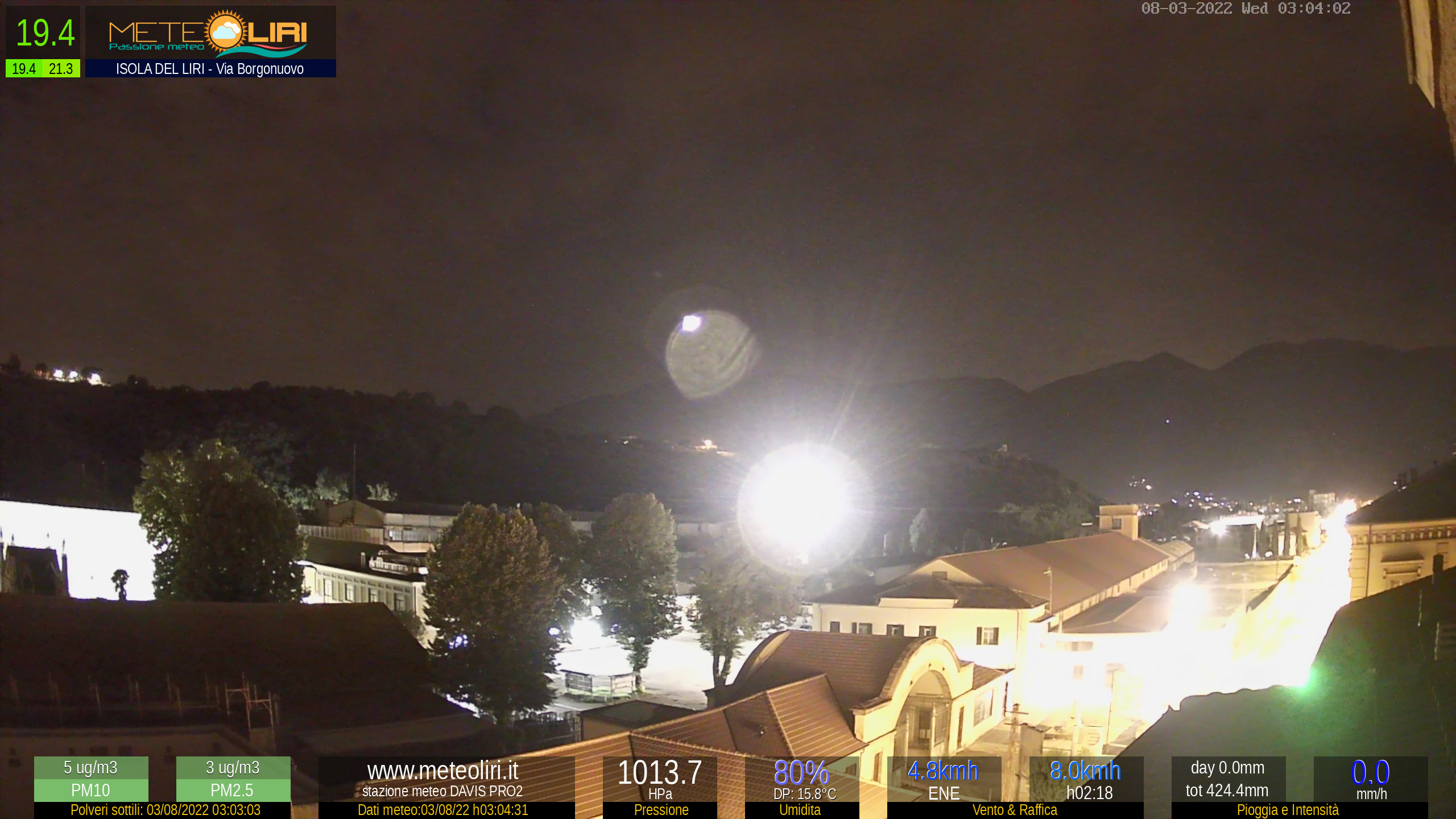 Webcam Isola del Liri - puntamento N