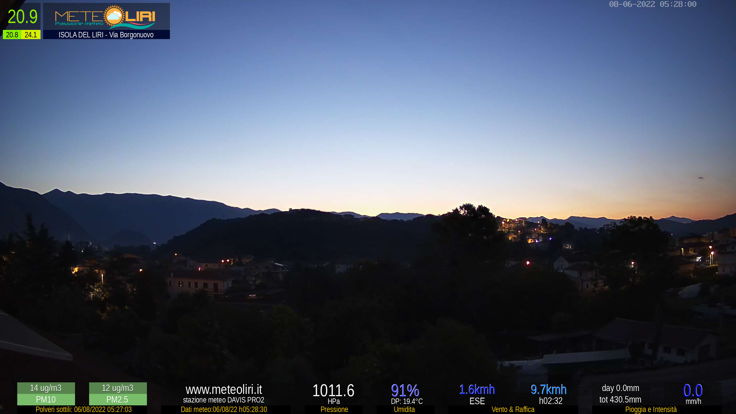 Webcam Isola del Liri - puntamento NE