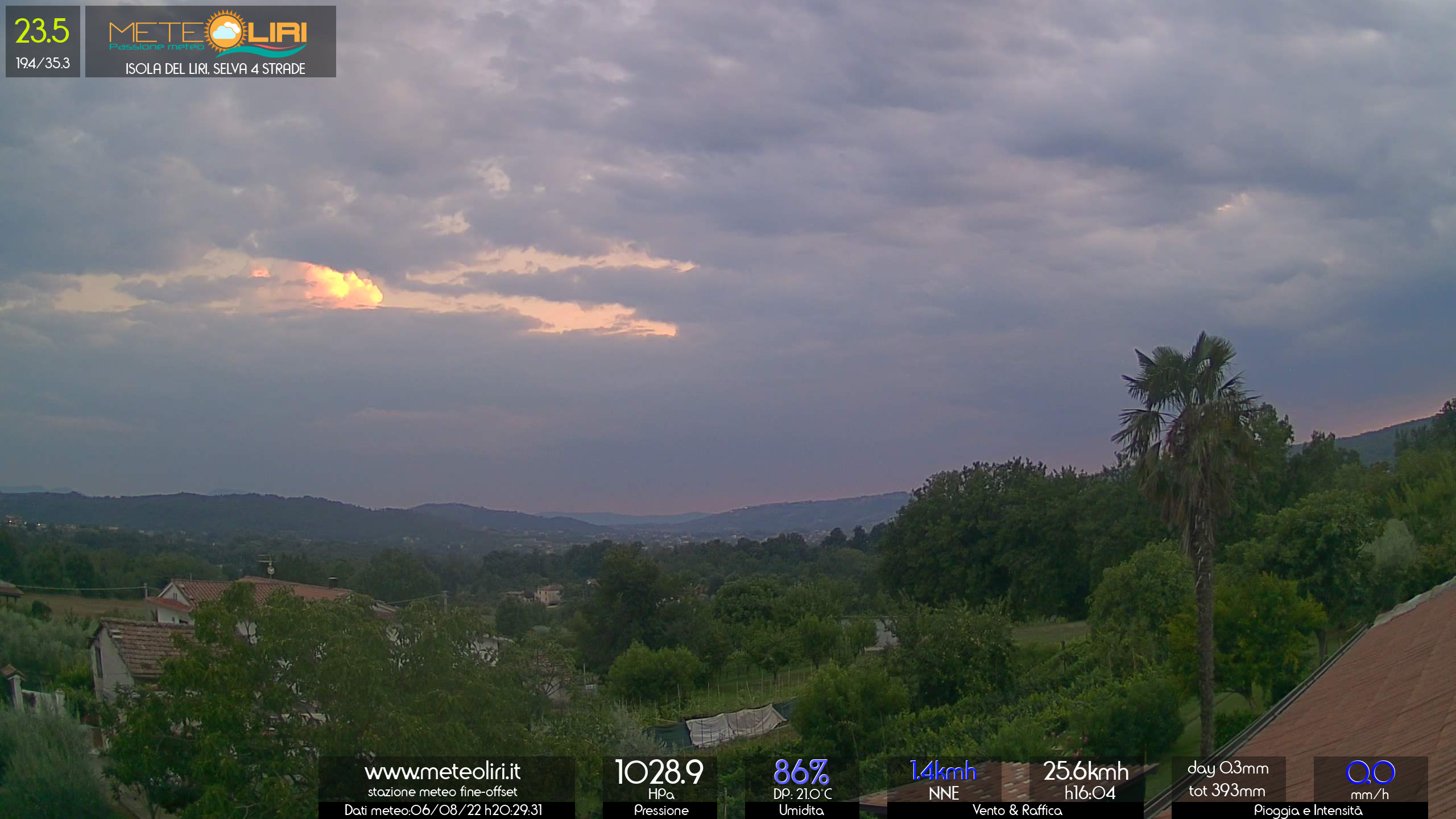 Webcam Isola del Liri - puntamento SW